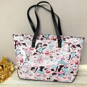 Fluff Cupcake Dolls Pinup Girl Tote Bag Retro Pink